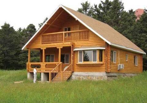 Meglio una casa di legno terra nuova for Una pianta della casa di legno
