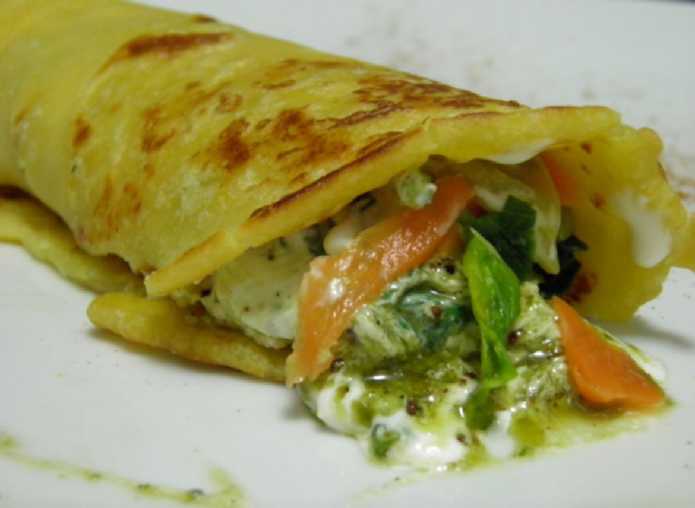 Crespelle di ceci con verdure e maionese vegan al pesto for Ricette di cucina