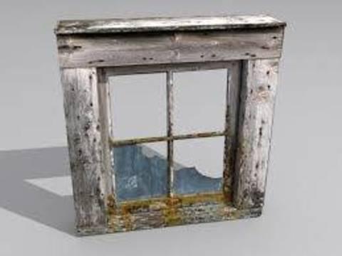 Da vecchia finestra a credenza terra nuova - Aprire una nuova finestra ...