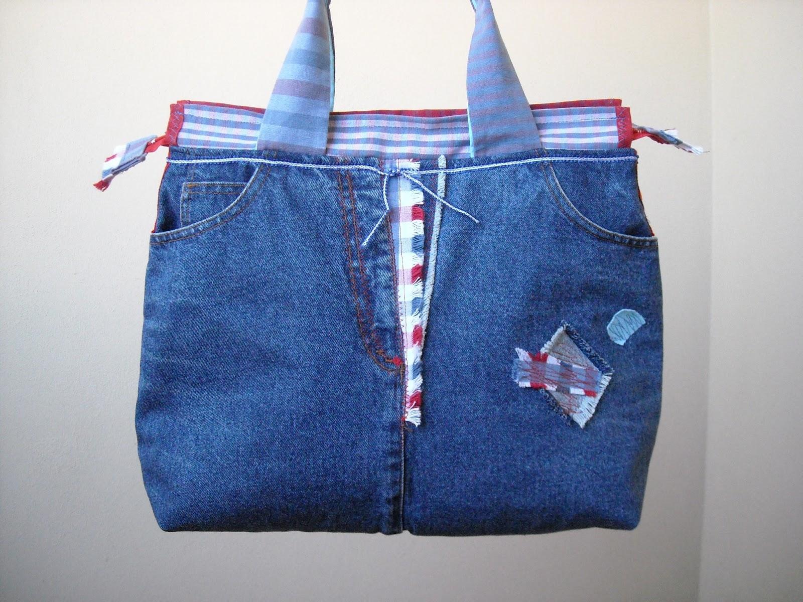 Zaini e borse fai da te con jeans riciclati terra nuova for Borse fai da te jeans