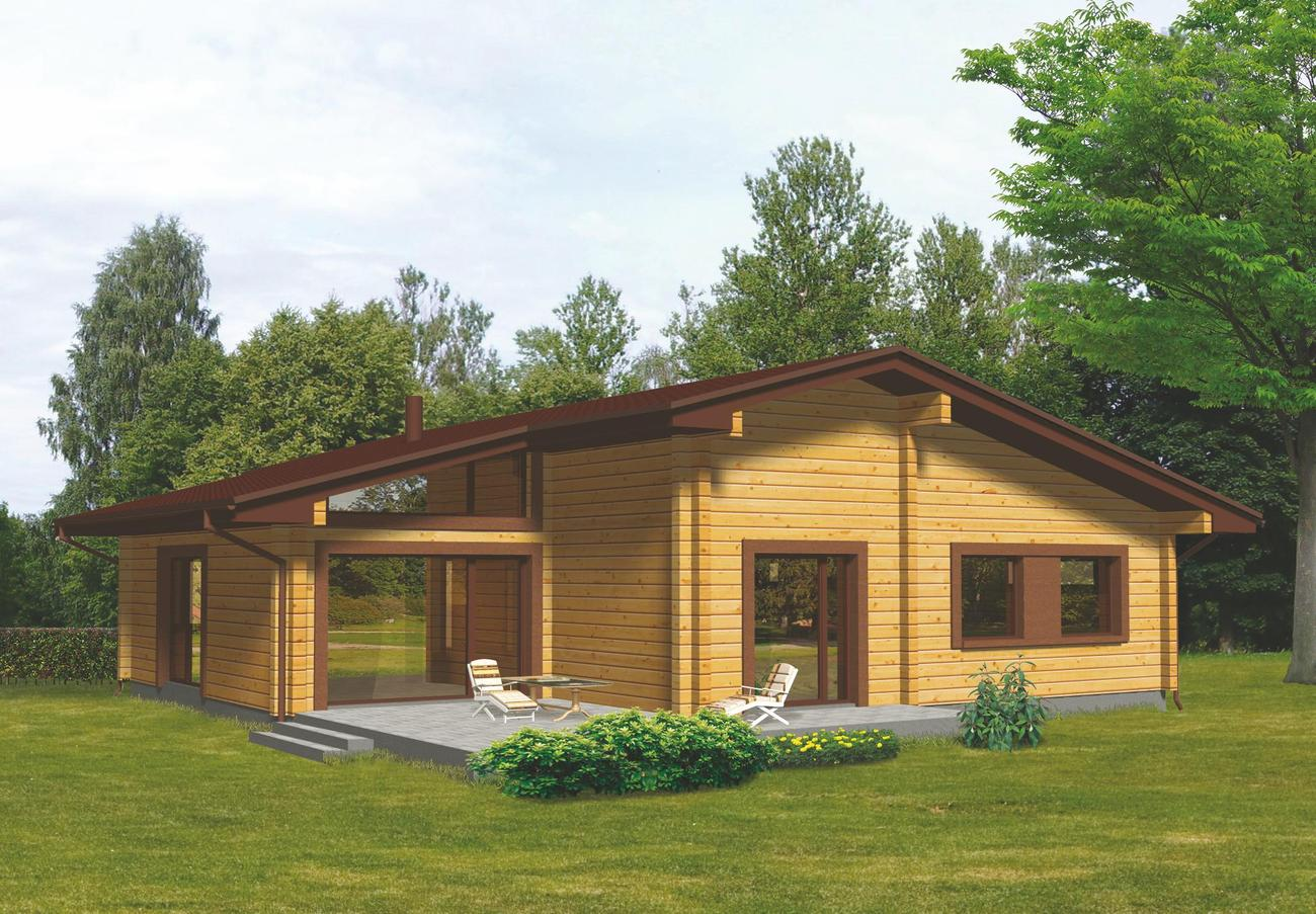 Abitare il legno terra nuova for Foto di case rustiche