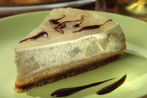 Cheesecake vegan con le pere